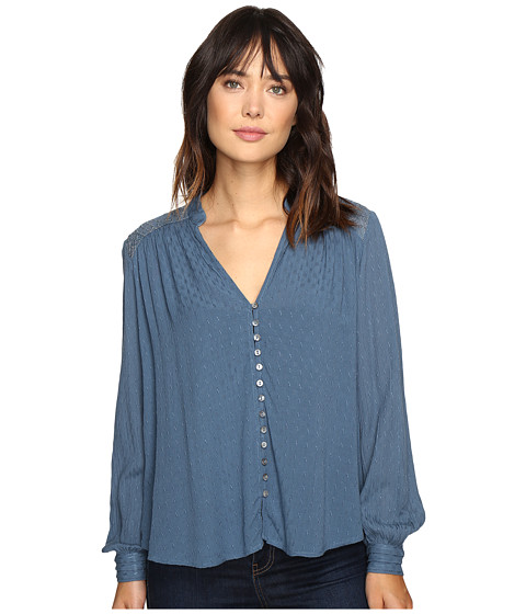 Free People Canyon Rose Button Down - Blue