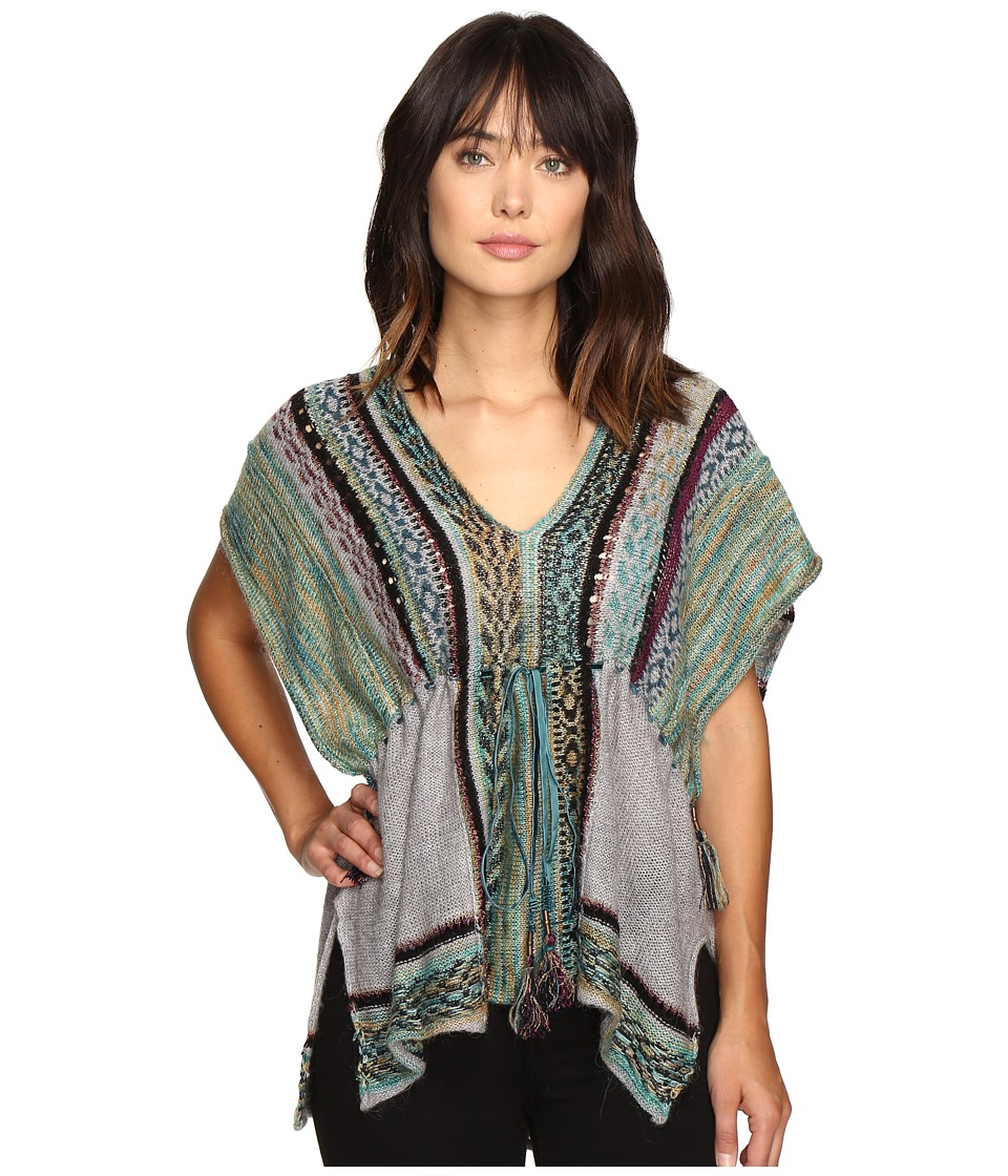 Free People Moonlit Path Pullover (Green Combo) Women