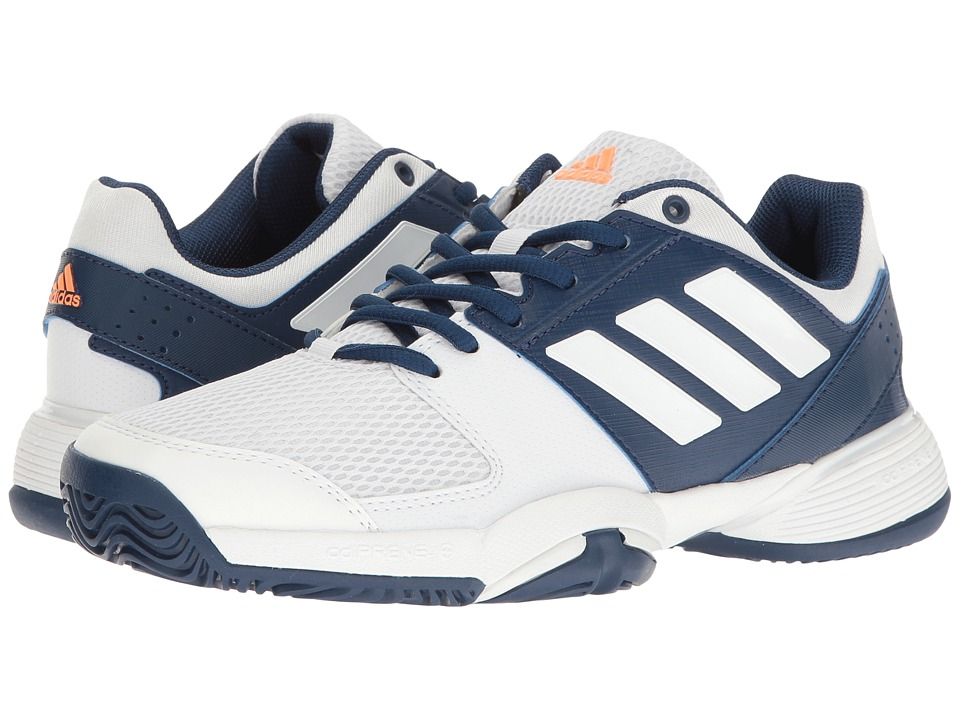 adidas Kids Barricade Club xJ (Little Kid/Big Kid) (Mystery Blue/Footwear White/Glow Orange) Girls Shoes