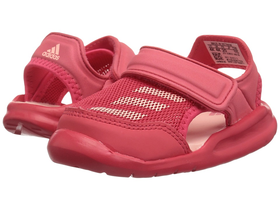 adidas Kids Forta Swim 1 (Infant/Toddler) (Core Pink/Haze Coral) Girls Shoes