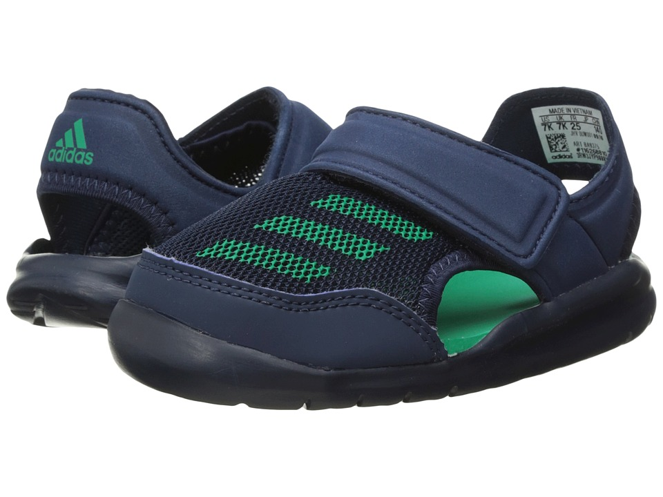 adidas Kids Forta Swim 1 (Infant/Toddler) (Collegiate Navy/Core Green) Girls Shoes