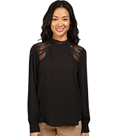 Ivanka Trump - Georgette Blouse with Lace