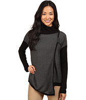 Ivanka Trump - Mock Neck Sweater with Longer Front and Buckle
