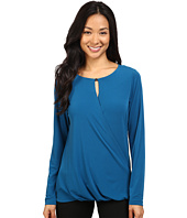 Ivanka Trump - Long Sleeve Matte Jersey Top with Bead