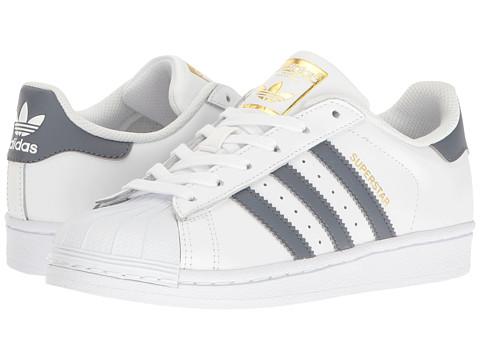 adidas Originals Kids Superstar Adicolor (Big Kid) - White/Onix/Gold
