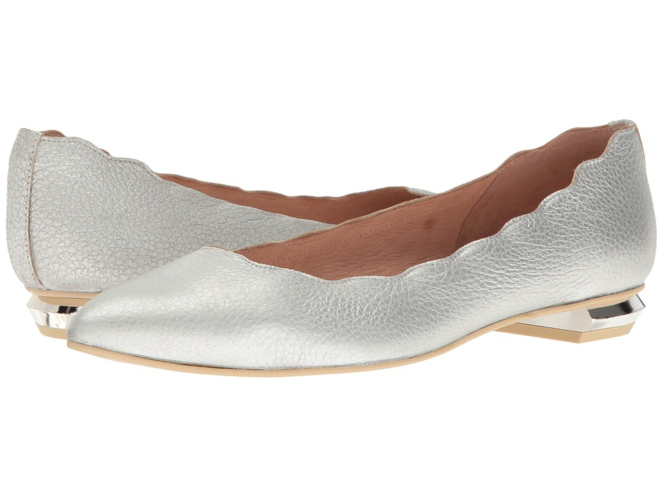 French Sole Tequila (Silver Metallic Pebble Leather) Women