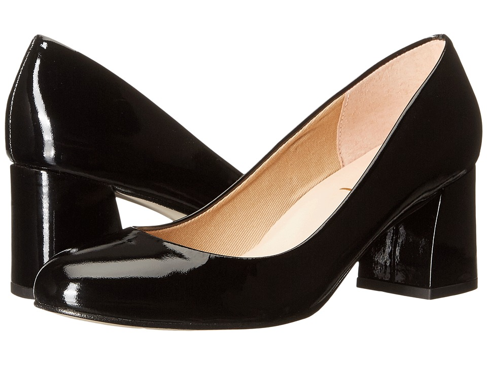 French Sole Trance (Black Patent Leather) Women's Flat Shoes
