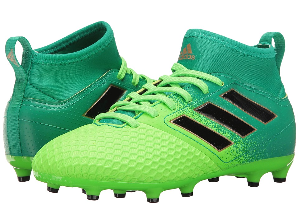adidas Kids Ace 17.3 Primemesh FG Soccer (Little Kid/Bid Kid) (Solar Green/Black/Core Green) Kids Shoes