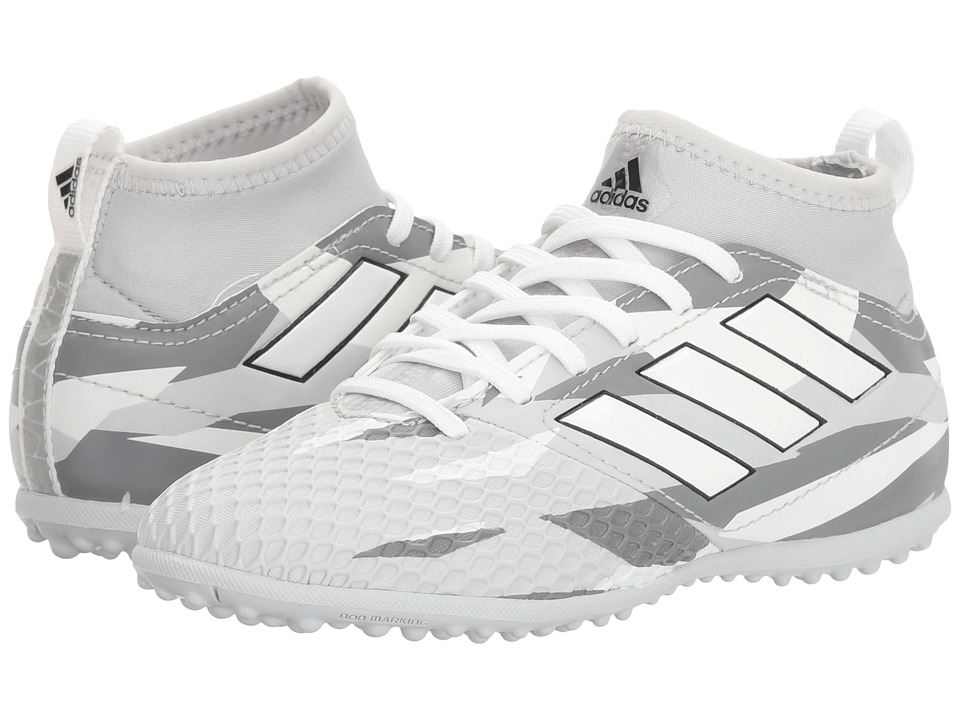 adidas Kids Ace 17.3 Primemesh TF Soccer (Little Kid/Big Kid) (Clear Grey/White/Black) Kids Shoes