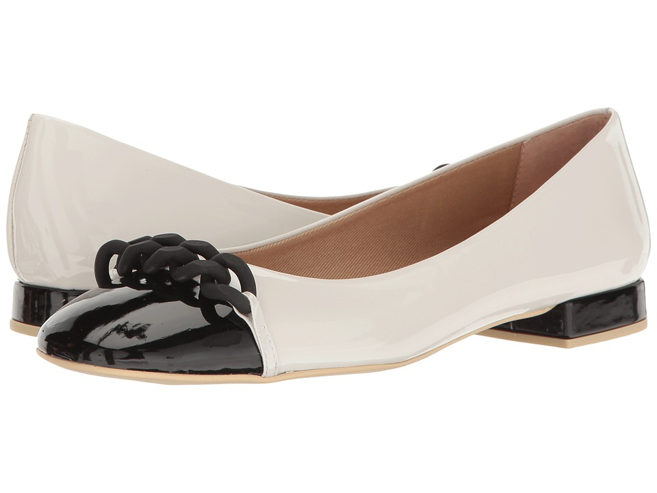 French Sole Tumble (White/Black Patent Leather) Women