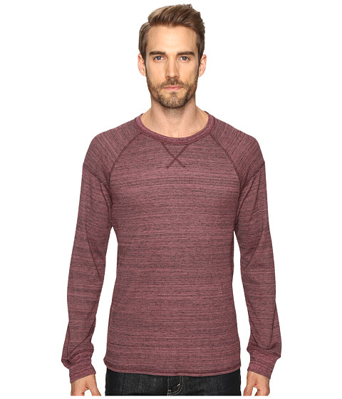 Alternative Eco Space Dye Thermal Onboard Crew Neck - Currant Space Dye