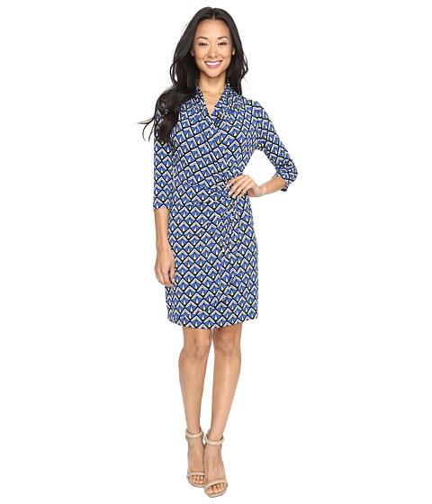 Karen Kane 3/4 Sleeve Cascade Wrap Dress - Print