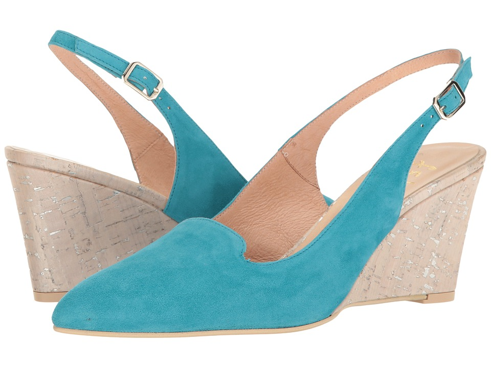 French Sole Water (Blue Suede/Silver Cork) Women