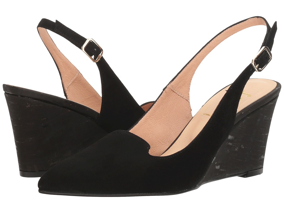 French Sole Water (Black Suede/Cork) Women