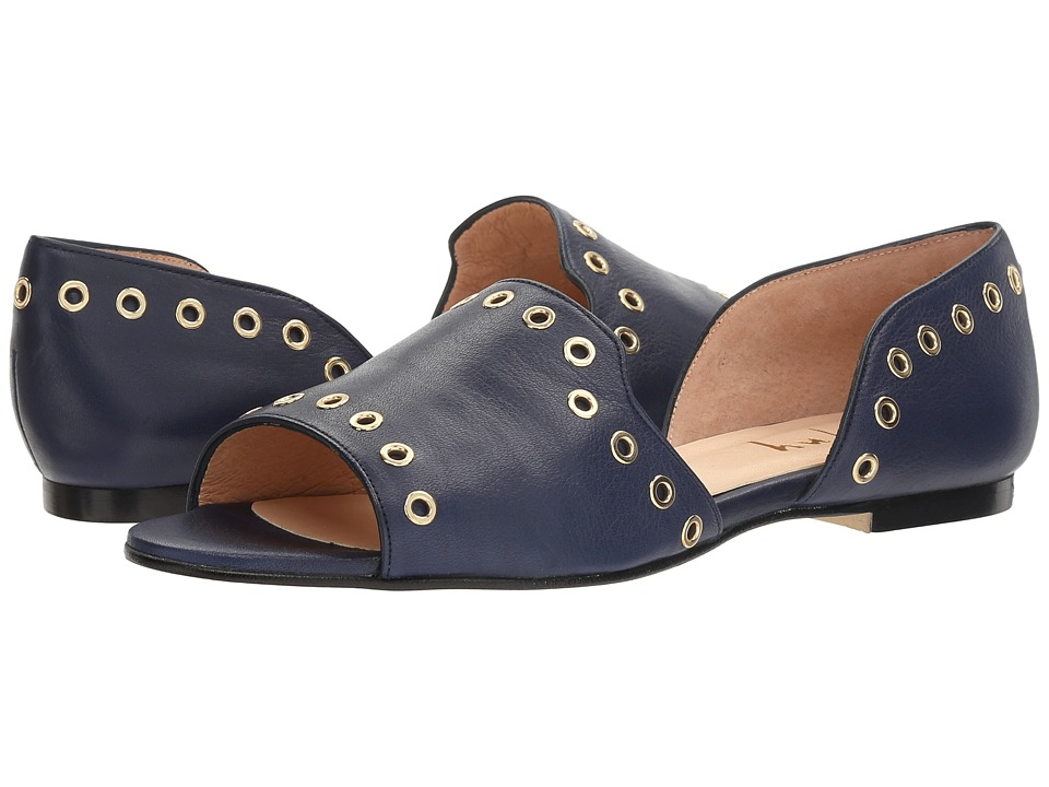 French Sole Whistle (Navy Soft Calfskin Leather) Women