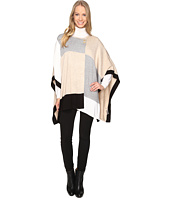 Calvin Klein - Color Blocked Poncho Sweater