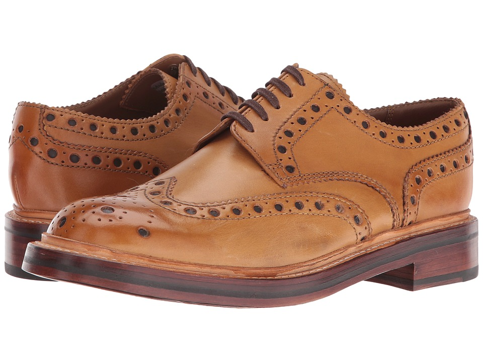 Grenson - Archie (Tan) Mens Lace Up Wing Tip Shoes