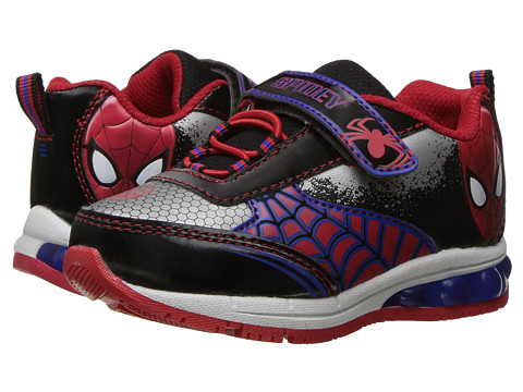 Favorite Characters Spiderman Lighted Athletic SPS326 (Toddler/Little Kid) - White/Black/Red