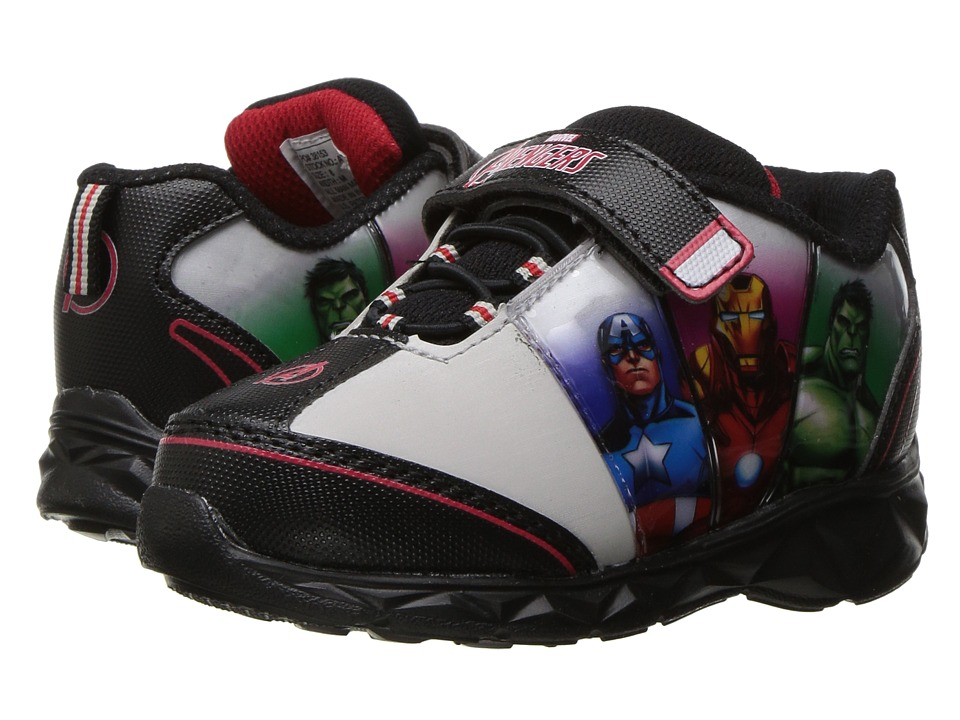 Avengers Lighted Athletic AVS325 (Toddler/Little Kid) (Black/Royal/Red) Boy's Shoes