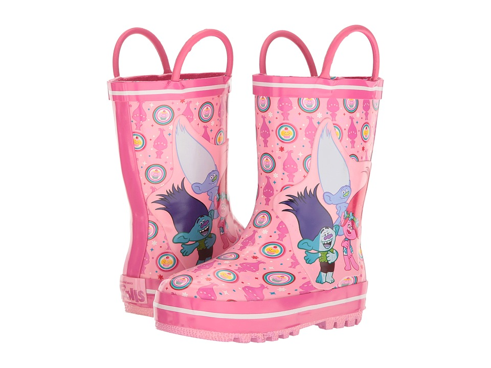 Favorite Characters - Trolls Rain Boots TLF500 (Toddler/Little Kid) (Fuchsia/White) Girls Shoes