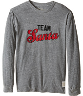 The Original Retro Brand Kids - Team Santa Long Sleeve Tri-Blend Tee (Little Kids/Big Kids)