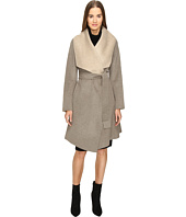 Diane von Furstenberg - Jenna Double Face Wool Two-Tone Wrap Coat