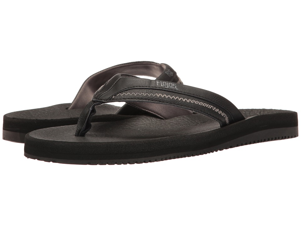 Flojos - Mason (Black) Men's Sandals