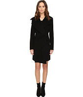 Diane von Furstenberg - Nicole Drape Wool Wrap Multi Stitch Collar Coat