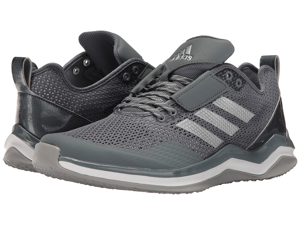 adidas - Speed Trainer 3.0 (Onix/Silver Metallic/Footwear White) Men's Basketball Shoes
