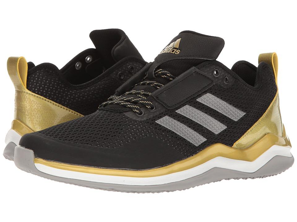 adidas - Speed Trainer 3.0 (Core Black/Iron Metallic/Gold Metallic) Men's Basketball Shoes