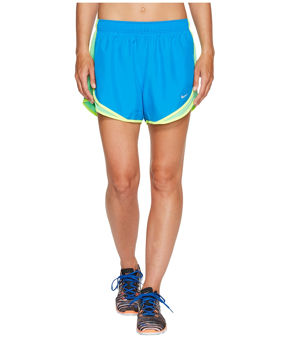 Nike Dry Tempo Short (Light Photo Blue/Electro Green/Wolf Grey) Women