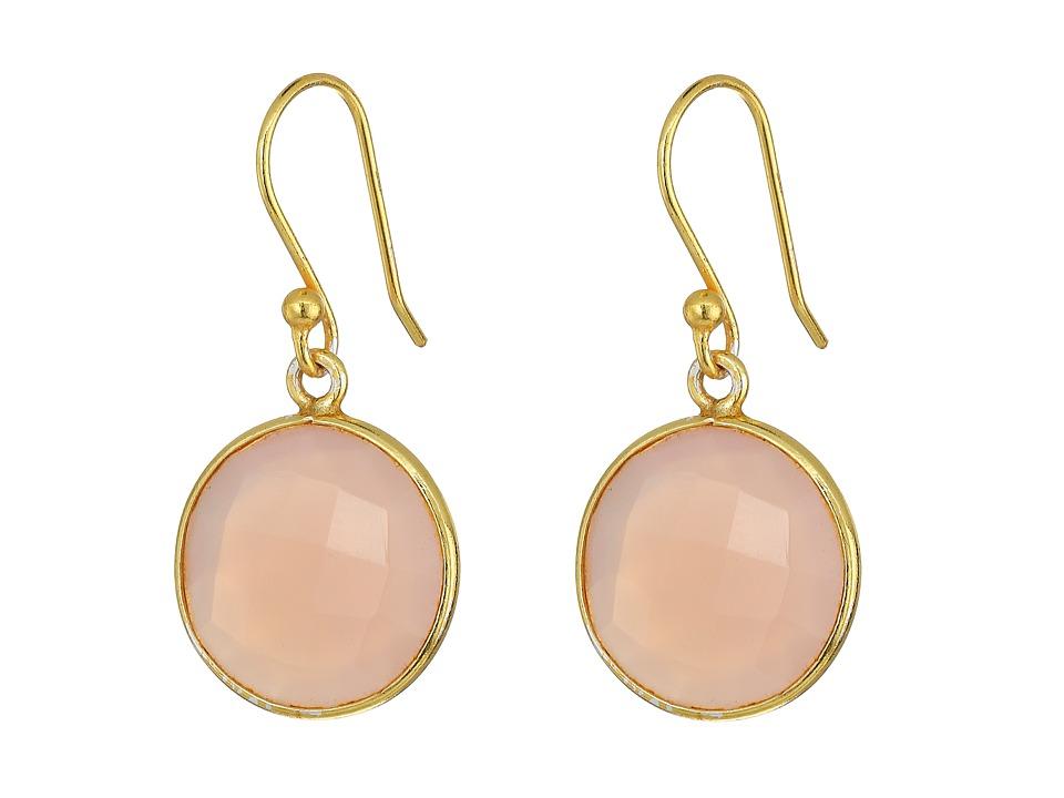 Dee Berkley - Single Stone Earrings (Pink) Earring