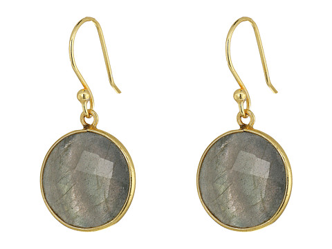 Dee Berkley Single Stone Earrings - Gray