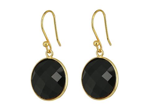 Dee Berkley Single Stone Earrings - Black