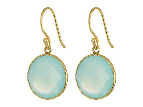 Dee Berkley Single Stone Earrings - Aqua