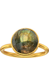 Dee Berkley - Single Round Stone Adjustable Ring Labradorite