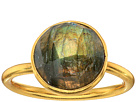 Dee Berkley - Single Round Stone Adjustable Ring Labradorite