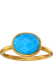 Dee Berkley - Single Oval Stone Adjustable Ring Turquoise