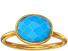 Dee Berkley - Single Oval Stone Adjustable Ring Turquoise