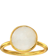 Dee Berkley - Single Round Stone Adjustable Ring Moonstone
