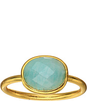 Dee Berkley - Single Oval Stone Adjustable Ring Amazonite