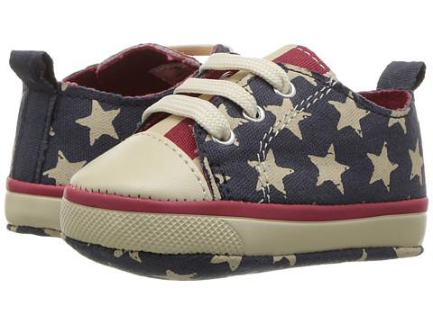 Baby Deer Canvas American Sneaker (Infant) - Navy/Red
