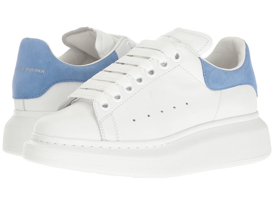 Alexander McQueen Lace-Up Sneaker (White/Cornflower) Women