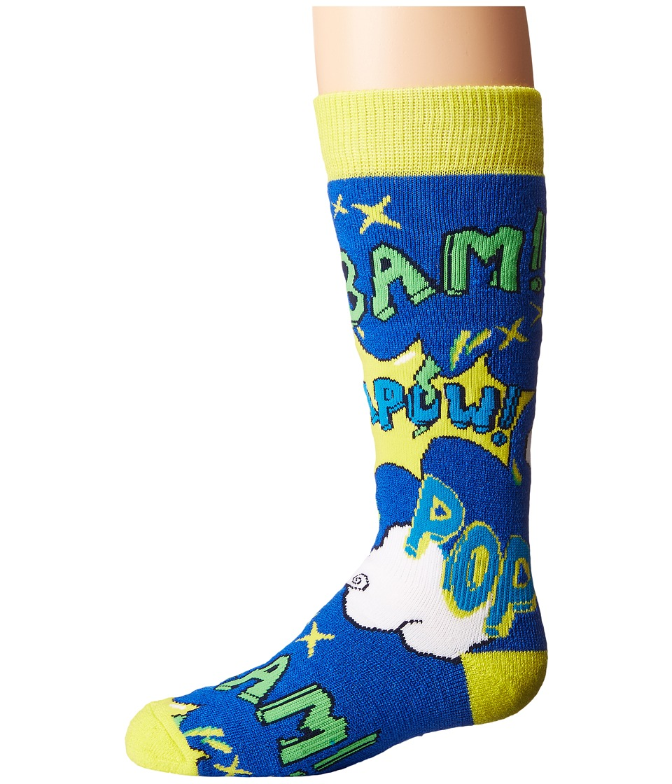 BULA - Kids Pow Socks (Little Kid/Big Kid) (Blue) Crew Cut Socks Shoes
