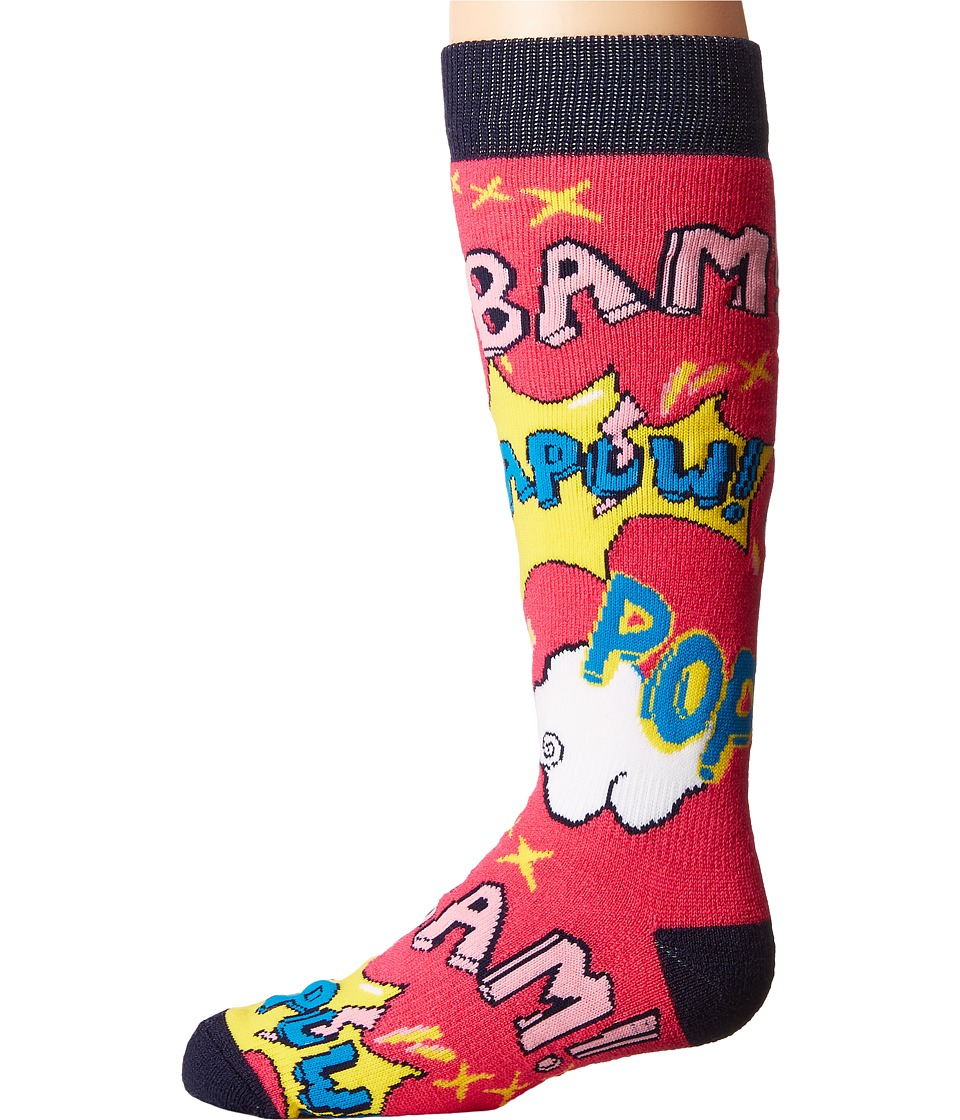 BULA - Kids Pow Socks (Little Kid/Big Kid) (Pink) Crew Cut Socks Shoes