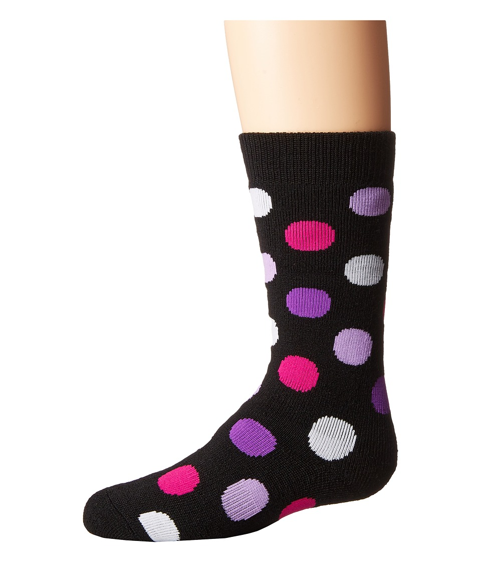 BULA - Socks Kids Dot (Little Kid/Big Kid) (Black) Crew Cut Socks Shoes