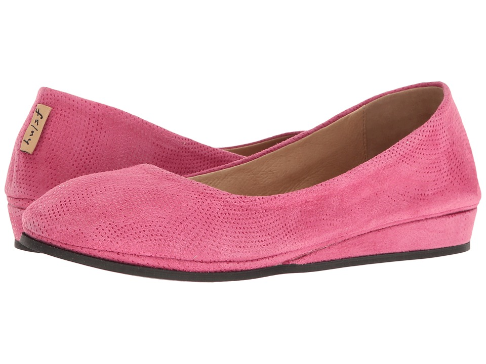 French Sole Zeppa (Fuchsia Wave Suede)