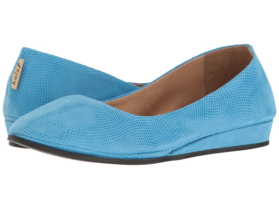 French Sole Zeppa (Turquoise Wave Suede)