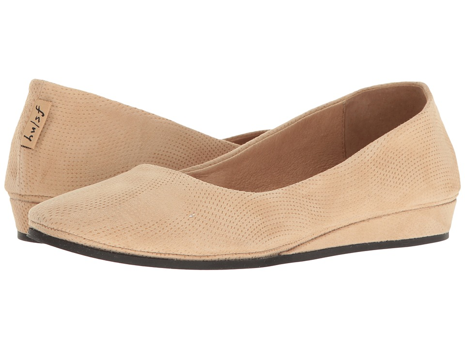 French Sole Zeppa (Beige Wave Suede)