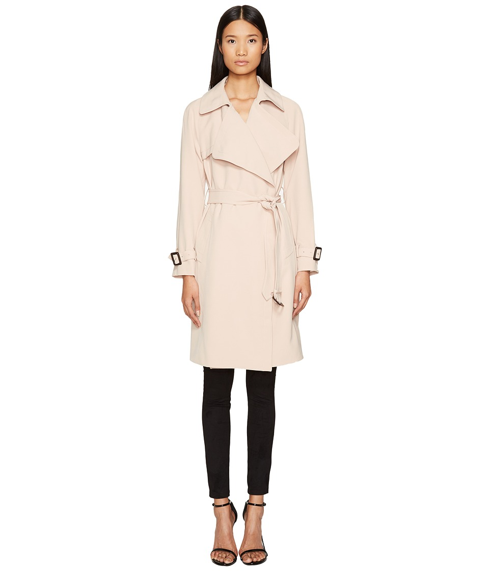 Diane von Furstenberg Diane von Furstenberg - Anouk Wide Notched Collar Trench Coat w/ Waist Belt